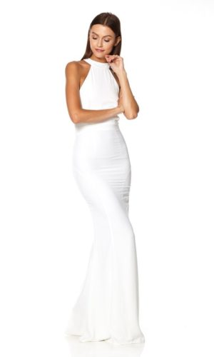 JARLO - Caden Halter Neck Maxi Dress - Robe de mariée pas cher - The Wedding Explorer