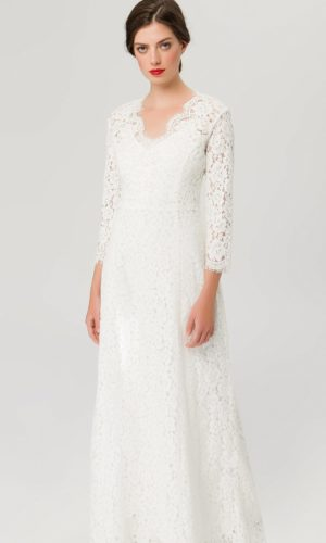 IVY & OAK - FLARED LACE DRESS - Robe de mariée pas cher - The Wedding Explorer