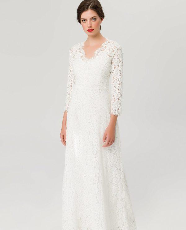 IVY & OAK - FLARED LACE DRESS - Robe de mariée pas cher - The Wedding Explorer