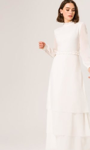 IVY & OAK - RUFFLE COLLAR BRIDAL DRESS - Robe de mariée pas cher - The Wedding Explorer