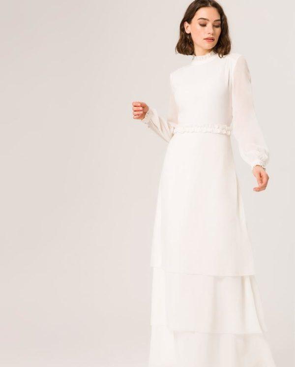 IVY & OAK - RUFFLE COLLAR BRIDAL DRESS - Robe de mariée pas cher - The Wedding Explorer