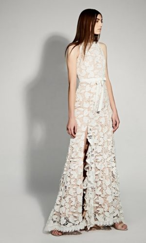 JARLO - Petal All Over Cutwork Lace Maxi Dress - Robe de mariée pas cher - The Wedding Explorer