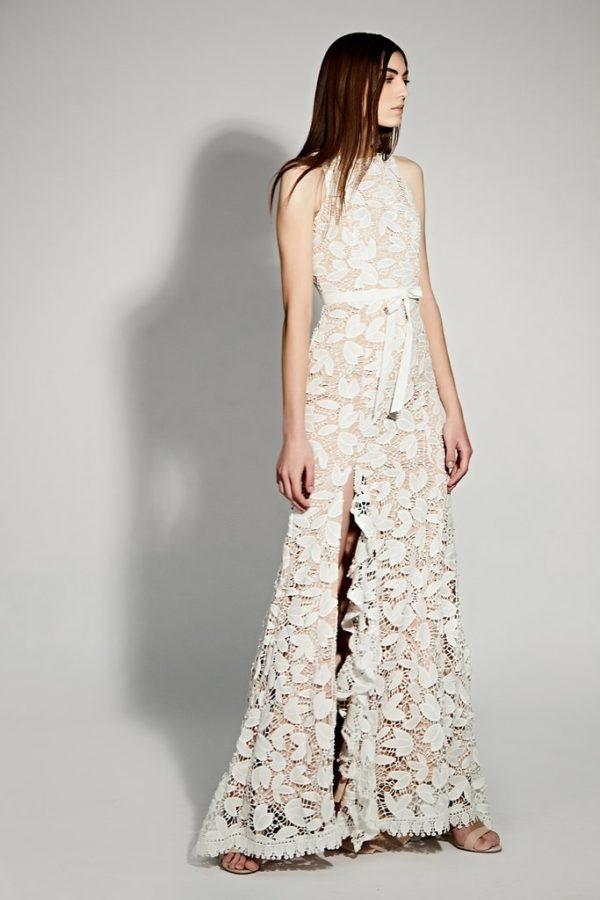 JARLO - Petal All Over Cutwork Lace Maxi Dress - Robe de mariée pas cher - The Wedding Explorer