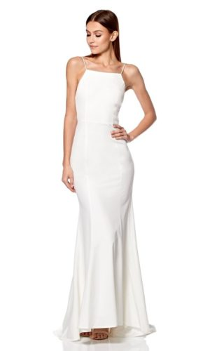 JARLO - Jemima Square Neck Maxi Dress with Open Back - Robe de mariée pas cher - The Wedding Explorer