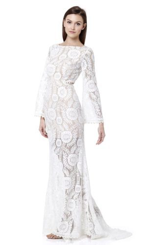 JARLO - Ray Cutout Back Lace Maxi Dress - Robe de mariée pas cher - The Wedding Explorer