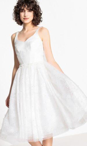 MADEMOISELLE R - Robe de mariée évasée, dentelle et perles - Robe de mariée pas cher - The Wedding Explorer