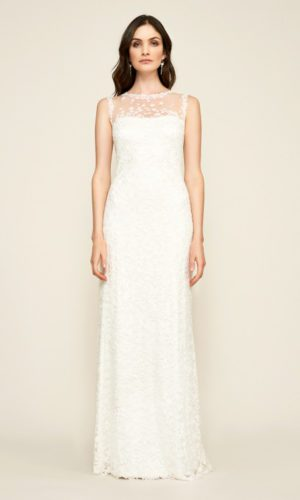 Tadashi Shoji - Dakota Sleeveless Embroidered Lace Gown - Robe de mariée pas cher - The Wedding Explorer