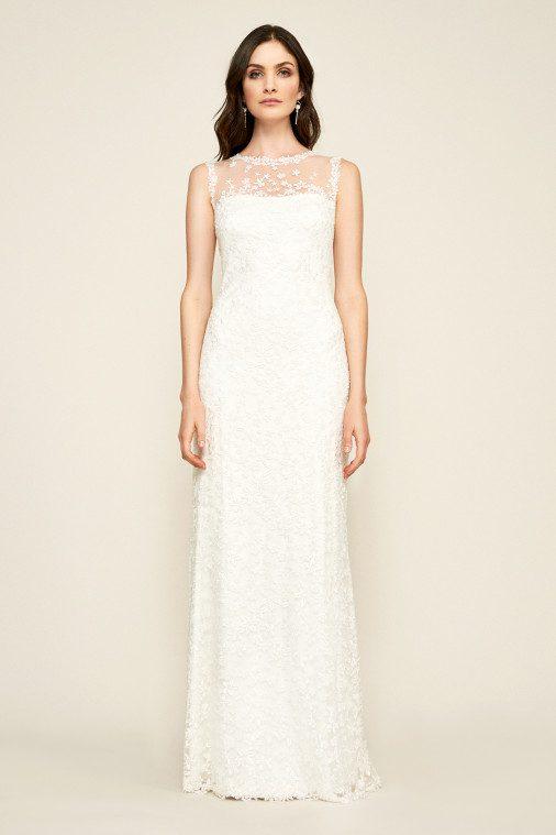 Tadashi Shoji - Dakota Sleeveless Embroidered Lace Gown - Robe de mariée pas cher - The Wedding Explorer