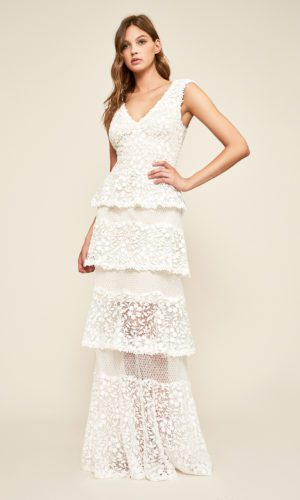 Tadashi Shoji - Citara Tulle Tiered Gown - Robe de mariée pas cher - The Wedding Explorer