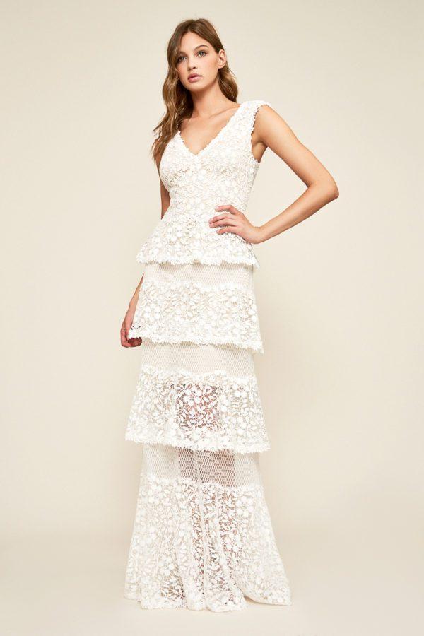 Tadashi Shoji - Citara Tulle Tiered Gown - Robe de mariée pas cher - The Wedding Explorer
