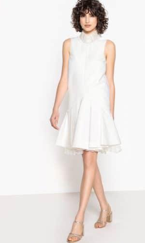MADEMOISELLE R - Robe de mariée courte, tulle, joli dos avec nœud - Robe de mariée pas cher - The Wedding Explorer