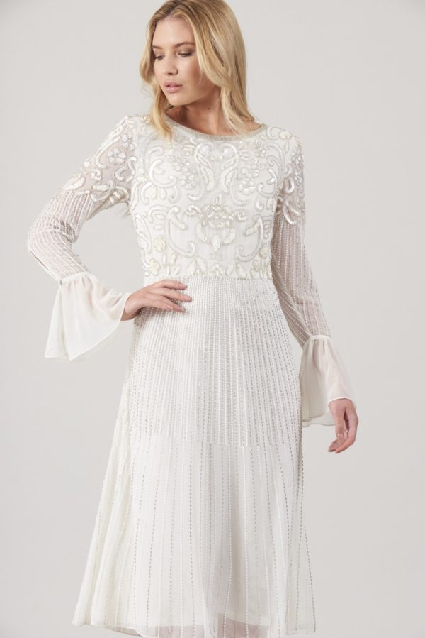 FROCK & FRILL - Clio Embellished Vintage Fit and Flare Dress - Robe de mariée pas cher - The Wedding Explorer