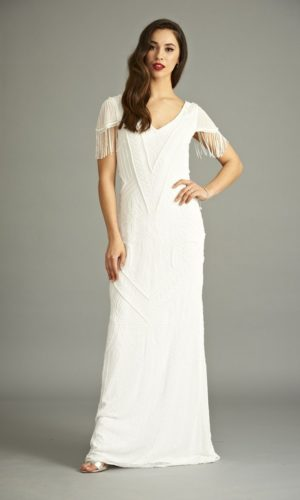 FROCK & FRILL - Birdelle Sequin Maxi Dress - Robe de mariée pas cher - The Wedding Explorer