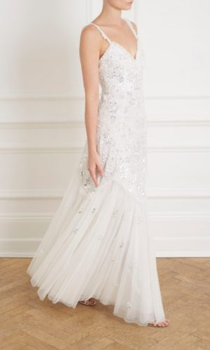 NEEDLE & THREAD - TIERED GLOSS CAMI BRIDAL GOWN - Robe de mariée pas cher - The Wedding Explorer