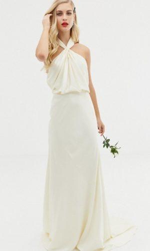 ASOS EDITION - Robe de mariage longue et froncée avec dos nu - Robe de mariée pas cher - The Wedding Explorer