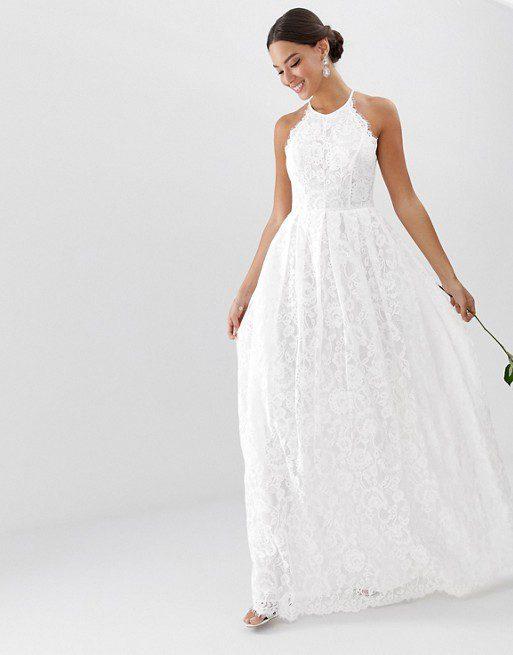ASOS EDITION - Robe longue de mariée en dentelle dos nageur - Robe de mariée pas cher - The Wedding Explorer