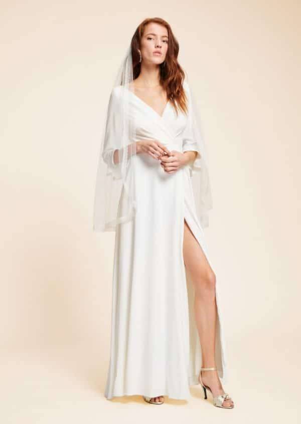 Tara Jarmon x Donatelle Godart - Robe Agathe en crêpe acétate viscose - Robe de mariée pas cher - The Wedding Explorer