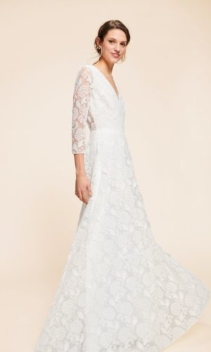 Tara Jarmon x Donatelle Godart - Robe longue Mathilde en tulle brodé - Robe de mariée pas cher - The Wedding Explorer