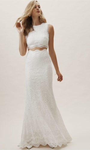 BHLDN Campbell Top & Campbell Skirt - Robe de mariée pas cher - The Wedding Explorer