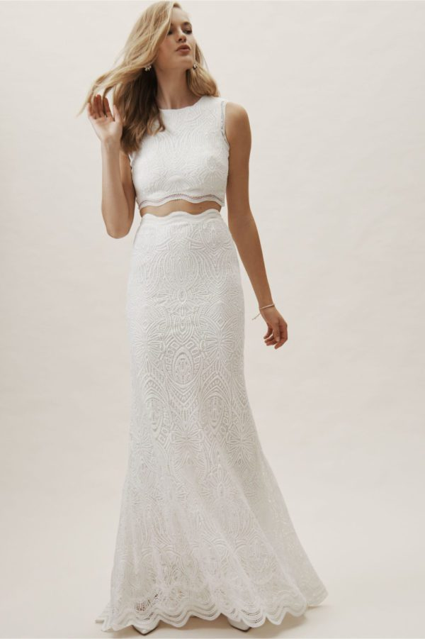 BHLDN Campbell Top & Campbell Skirt - Robe de mariée pas cher - The Wedding Explorer