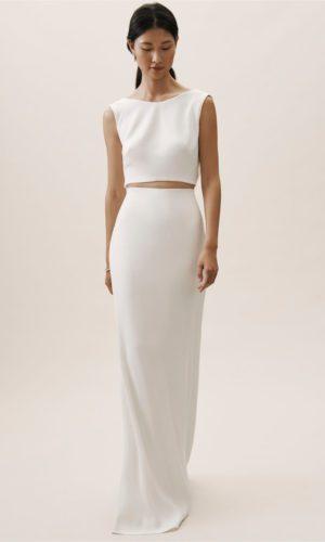 BHLDN Lawrence Crop Top & Gidley Skirt - Robe de mariée pas cher - The Wedding Explorer
