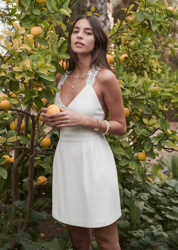 Sézane - Robe courte Ombeline - Robe de mariée pas cher - The Wedding Explorer