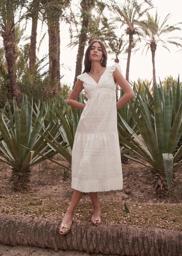 Sézane - Robe bohème Magalie - Robe de mariée pas cher - The Wedding Explorer