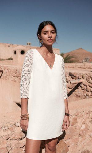 Sézane - Robe courte Axelle - Robe de mariée pas cher - The Wedding Explorer