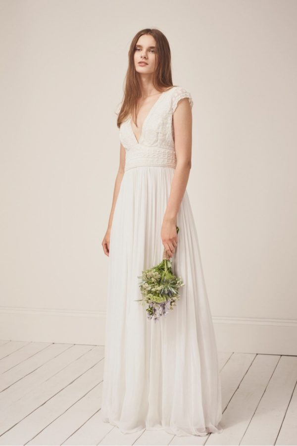 French Connection - Palmero Embellished Wedding Dress - Robe de mariée pas cher - The Wedding Explorer