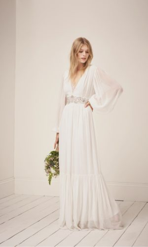 French Connection - Cari Sparkle Maxi Wedding Dress - Robe de mariée pas cher - The Wedding Explorer