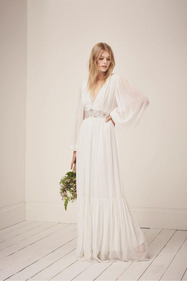 French Connection - Cari Sparkle Maxi Wedding Dress - Robe de mariée pas cher - The Wedding Explorer
