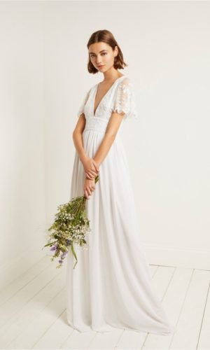 French Connection - Emelina embellished V neck dress - Robe de mariée pas cher - The Wedding Explorer