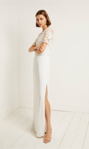 French Connection - Isla Embellished Column Dress - Robe de mariée pas cher - The Wedding Explorer