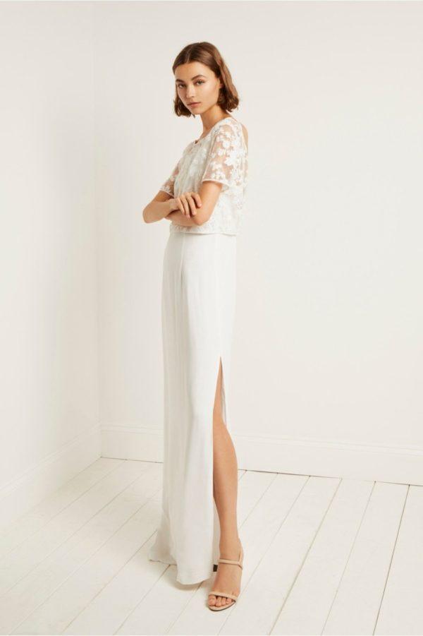 French Connection - Isla Embellished Column Dress - Robe de mariée pas cher - The Wedding Explorer