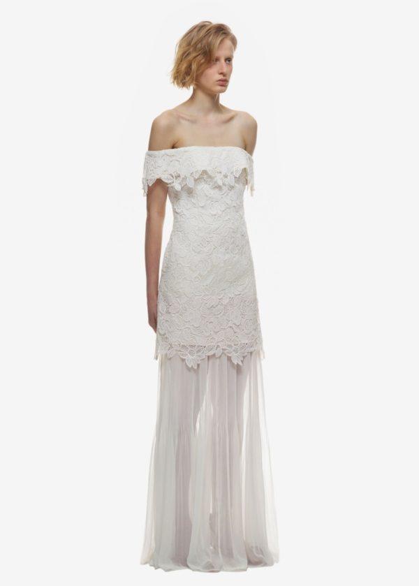 Self Portrait - Off-shoulder lace bridal dress - Robe de mariée pas cher - The Wedding Explorer
