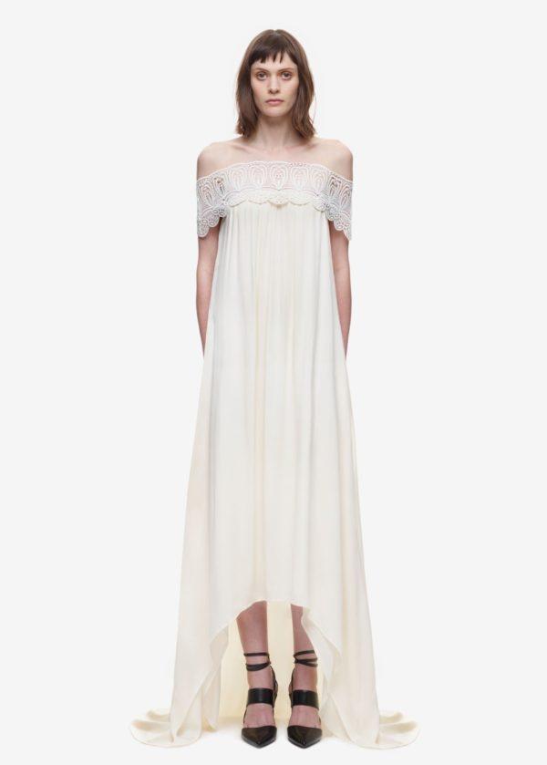 Self Portrait - Lace detail off shoulder wedding dress - Robe de mariée pas cher - The Wedding Explorer