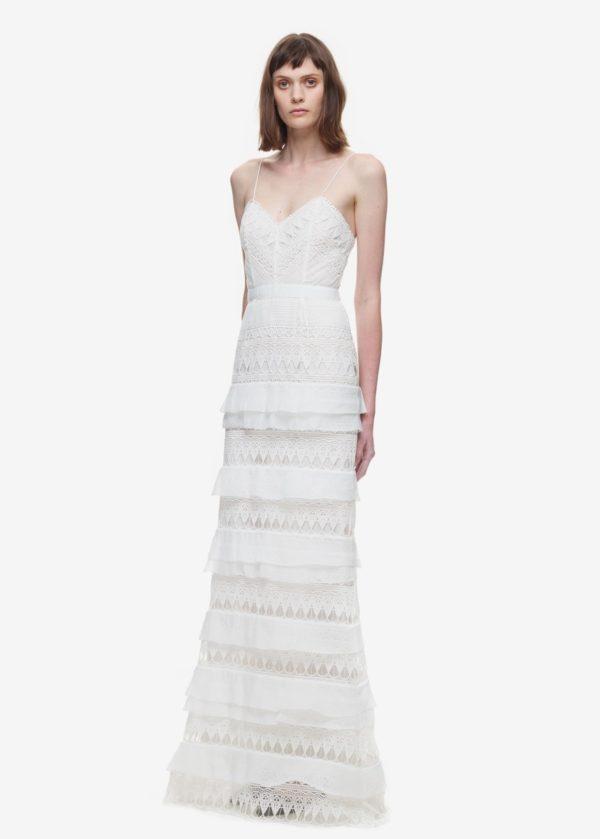 Self Portrait - Penelope tiered teardrop lace gown - Robe de mariée pas cher - The Wedding Explorer