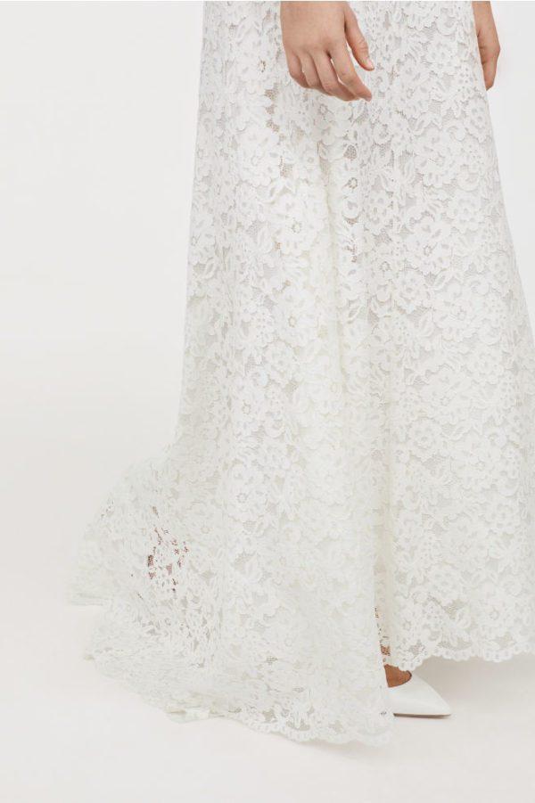 H&M - Jupe longue en dentelle - Robe de mariée pas cher - The Wedding Explorer