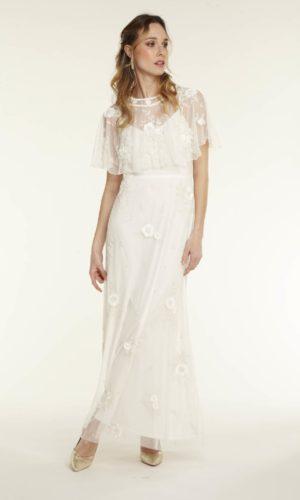 NAF NAF - Robe de mariée perlée ecru - Robe de mariée pas cher - The Wedding Explorer