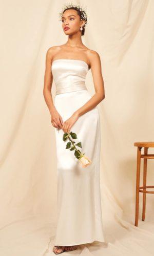 Reformation - Giotto Dress - Robe de mariée pas cher - The Wedding Explorer