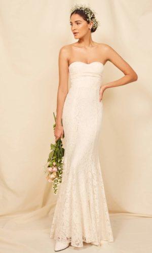 Reformation - Battista Dress - Robe de mariée pas cher - The Wedding Explorer