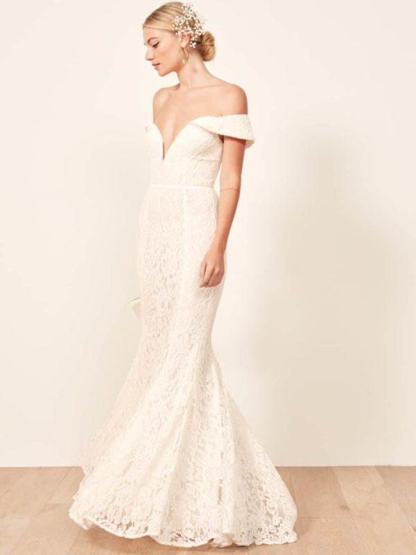 Reformation - Mykonos Dress - Robe de mariée pas cher - The Wedding Explorer