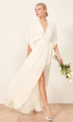 Reformation - Winslow Dress - Robe de mariée pas cher - The Wedding Explorer