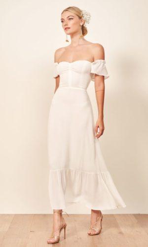 Reformation - Butterfly Dress - Robe de mariée pas cher - The Wedding Explorer