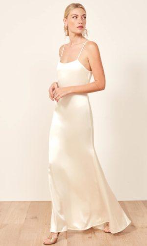 Reformation - Minerva Dress - Robe de mariée pas cher - The Wedding Explorer