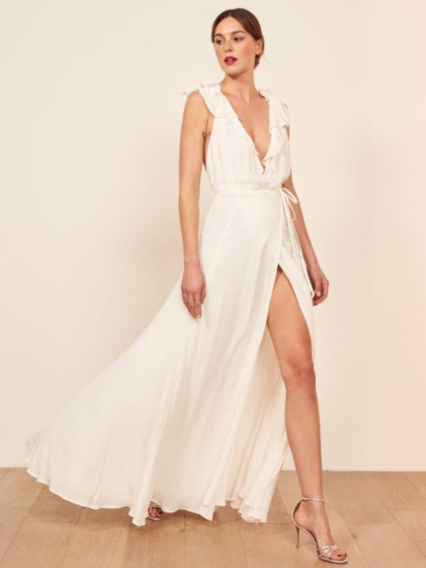 Reformation - Peppermint Dress - Robe de mariée pas cher - The Wedding Explorer