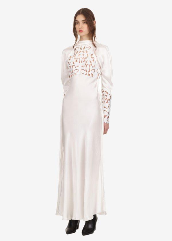 Self Portrait - Lace panel midi dress - Robe de mariée pas cher - The Wedding Explorer