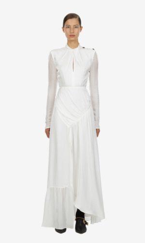 Self Portrait - Ivory twist neck maxi dress - Robe de mariée pas cher - The Wedding Explorer