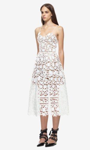 Self Portrait - Azaelea dress white - Robe de mariée pas cher - The Wedding Explorer