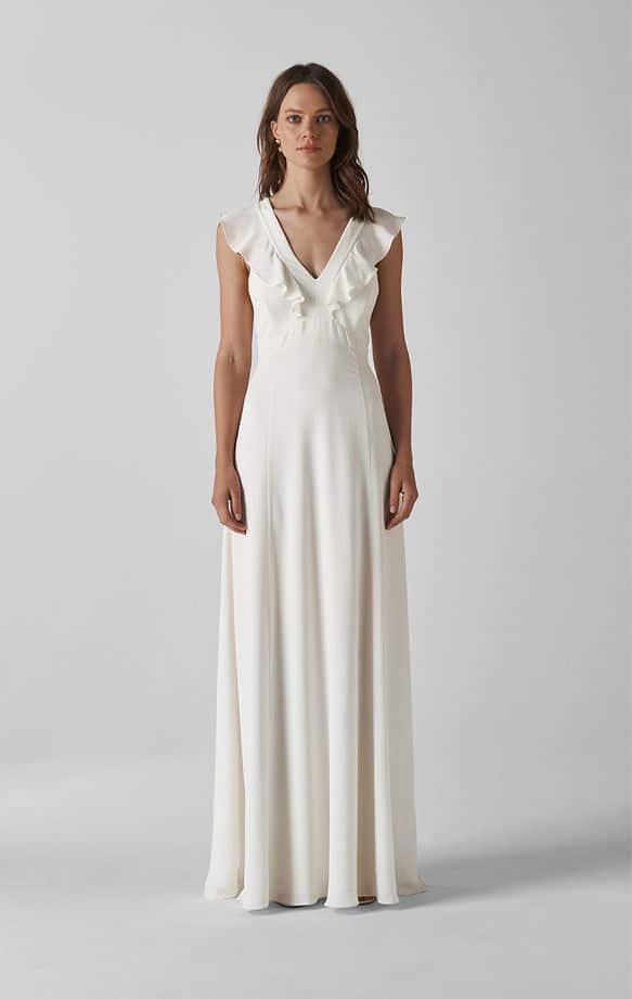 Whistles - Eve Silk Wedding Dress - Robe de mariée pas cher - The Wedding Explorer